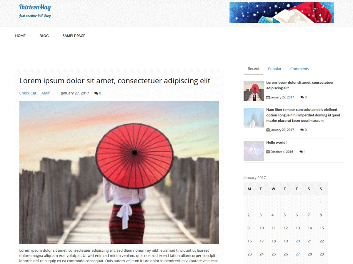 thirteenmag WordPress blog theme