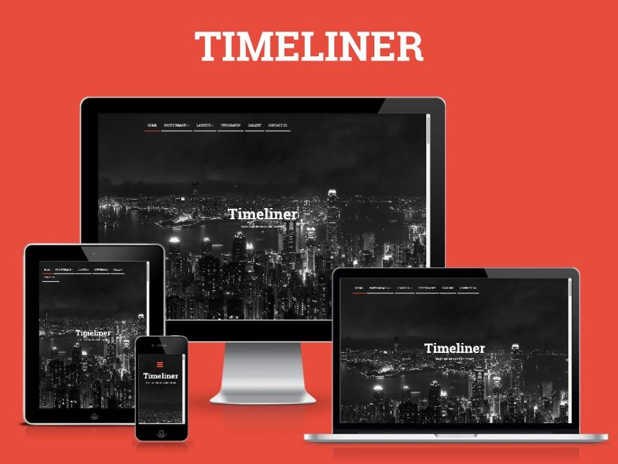 Timeliner WordPress blog template