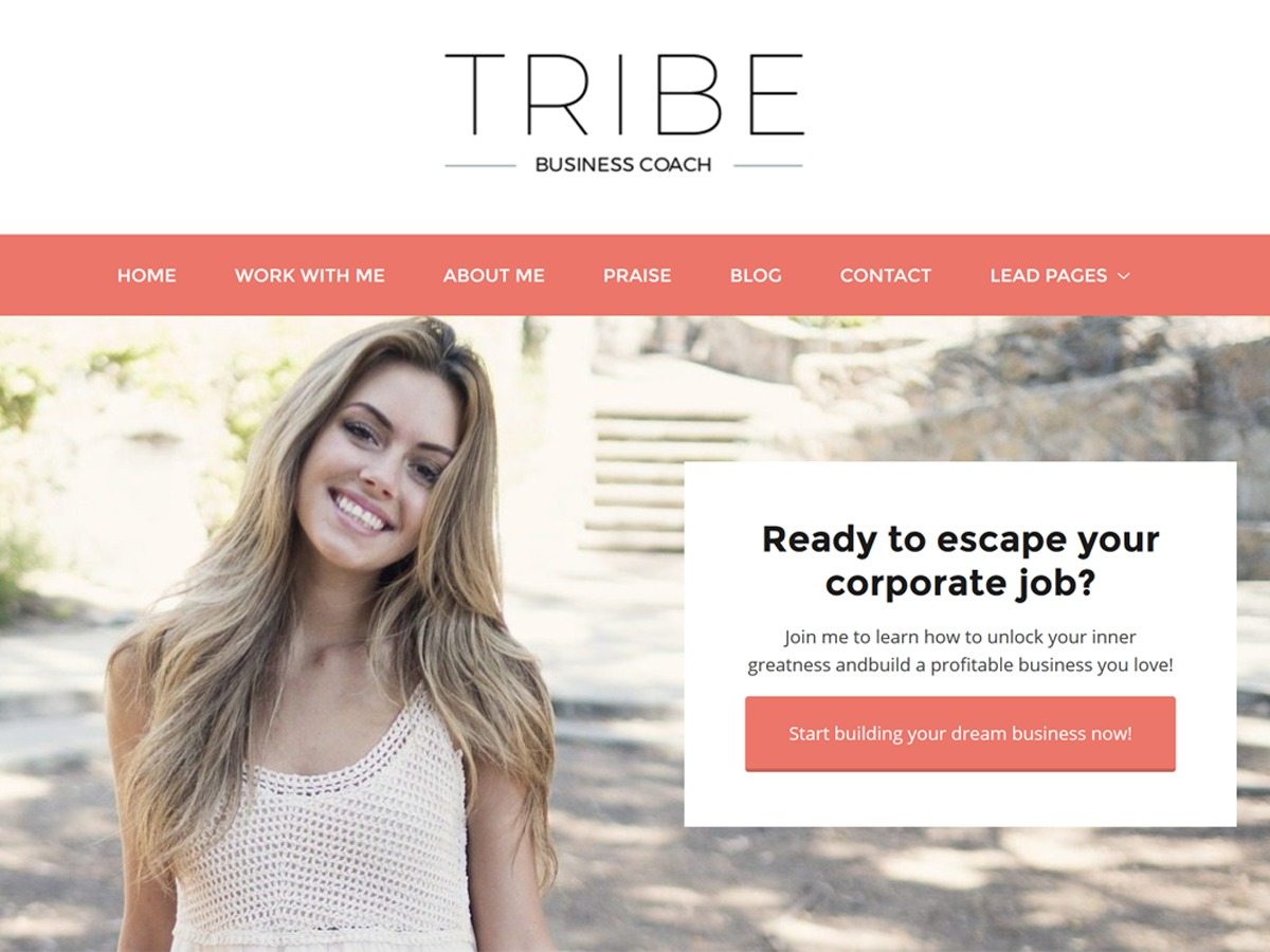 Tribe WordPress page template