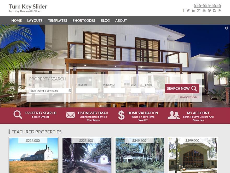 Turn Key Slider real estate WordPress theme