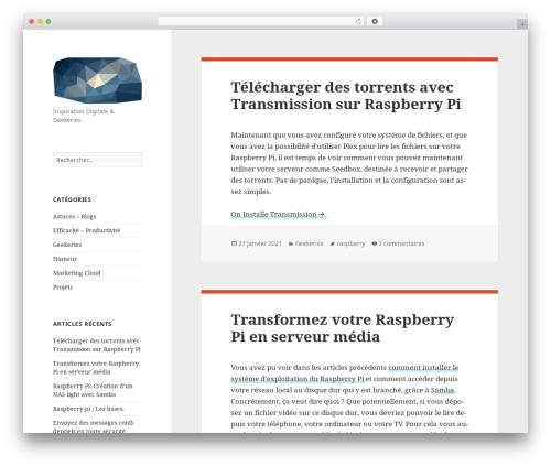 Twenty Fifteen free WordPress theme - webep.fr