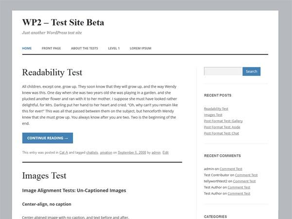 twentytwelve child template WordPress