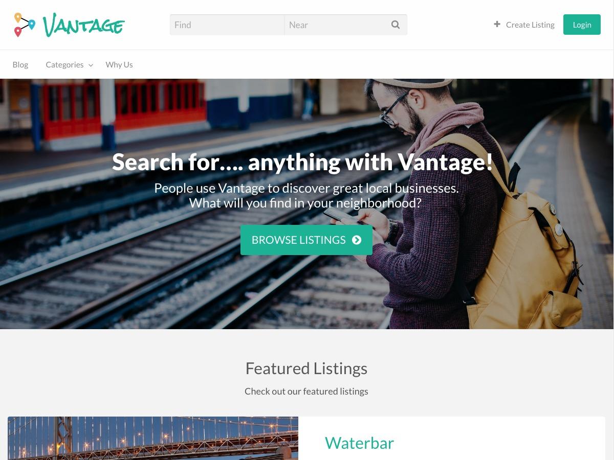 Vantage WordPress website template