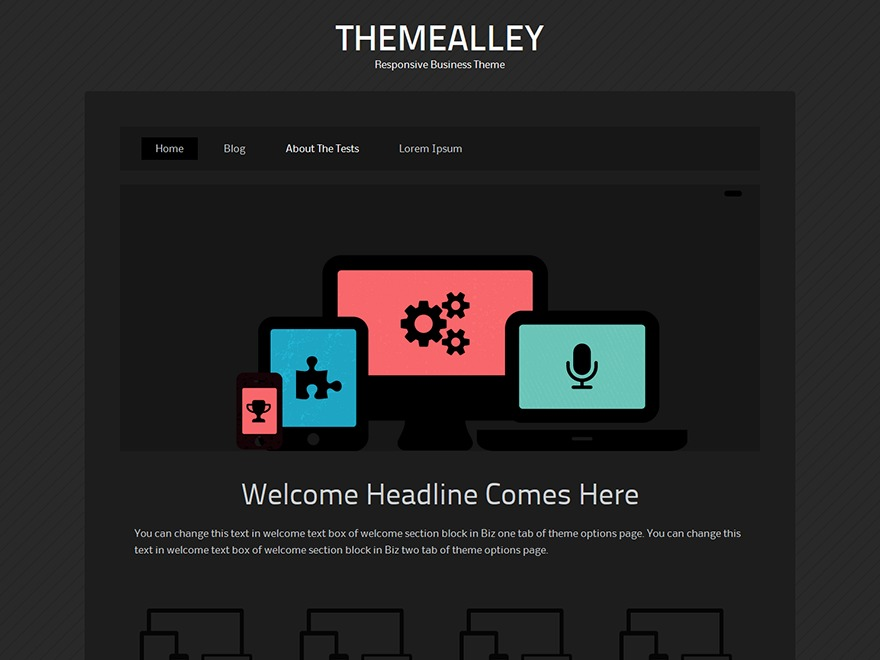 Venom company WordPress theme