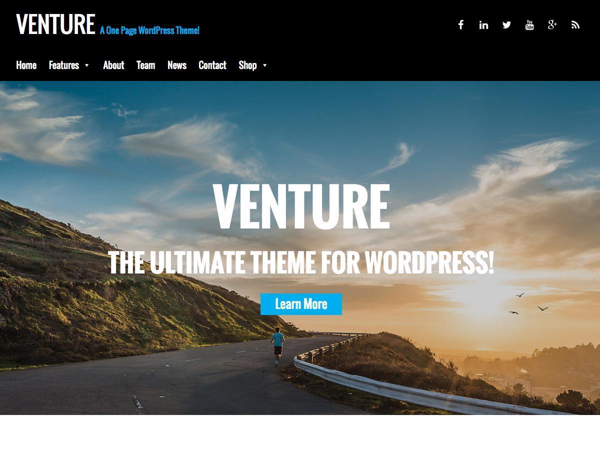 Venture Lite company WordPress theme