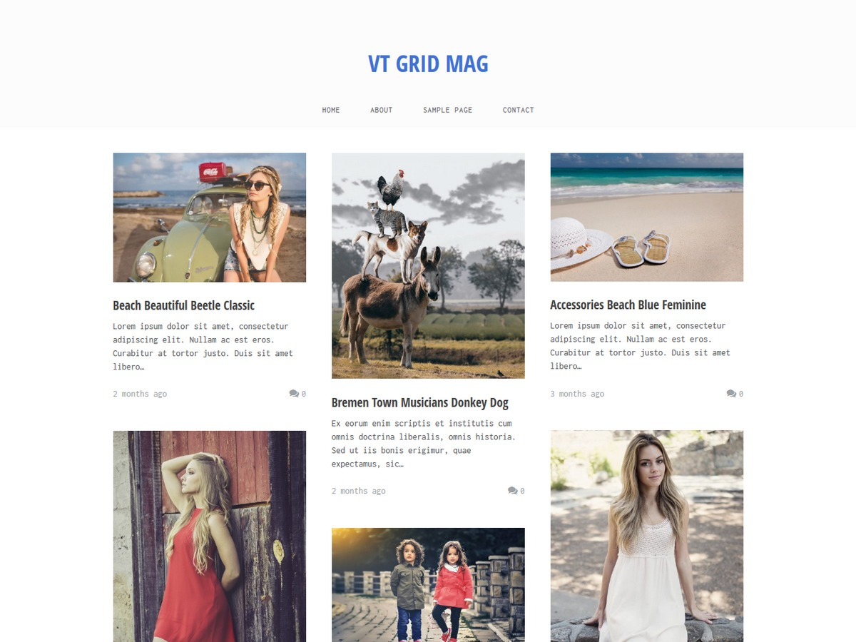 VT Grid Mag WordPress template free download