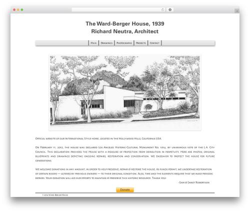Weaver II Pro best WordPress theme - ward-bergerhouse.org