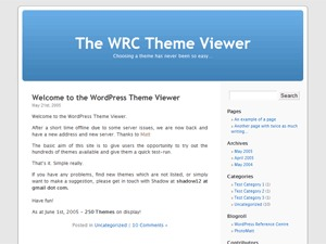WordPress mu Default theme WordPress