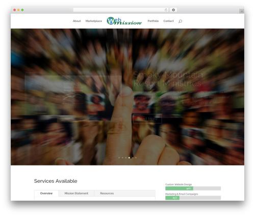 WordPress template Divi - webonmission.com