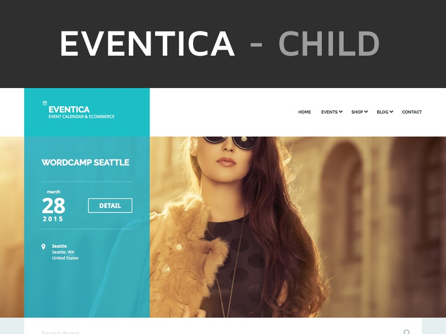 WordPress template Eventica Child