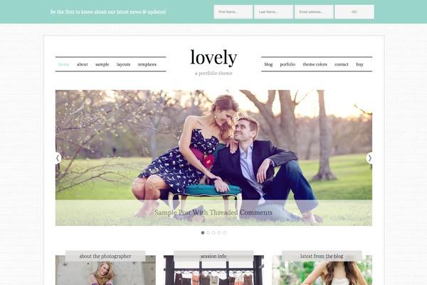 WordPress template Lovely Theme