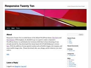 WordPress template Responsive TwentyTen