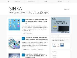 WordPress template SINKA
