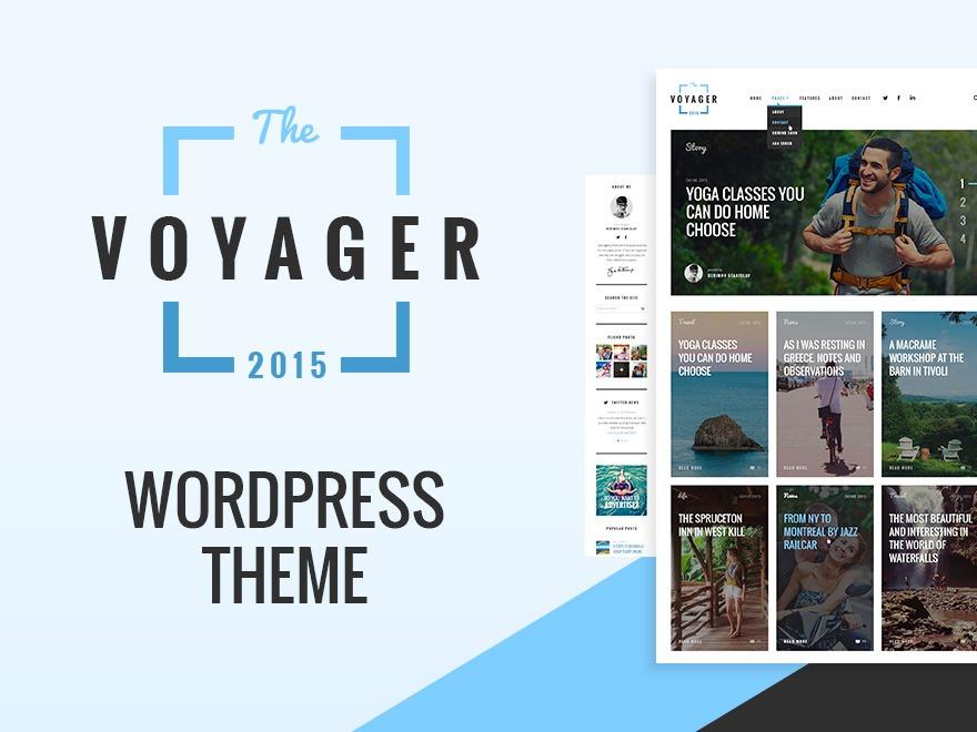 WordPress template Voyager