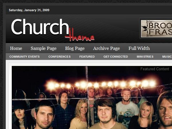 WordPress theme Church