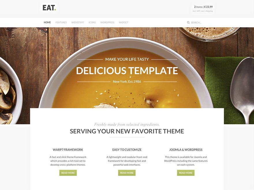 WordPress theme Eat