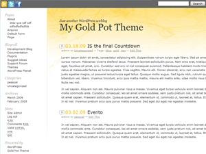 WordPress theme Gold Pot Theme
