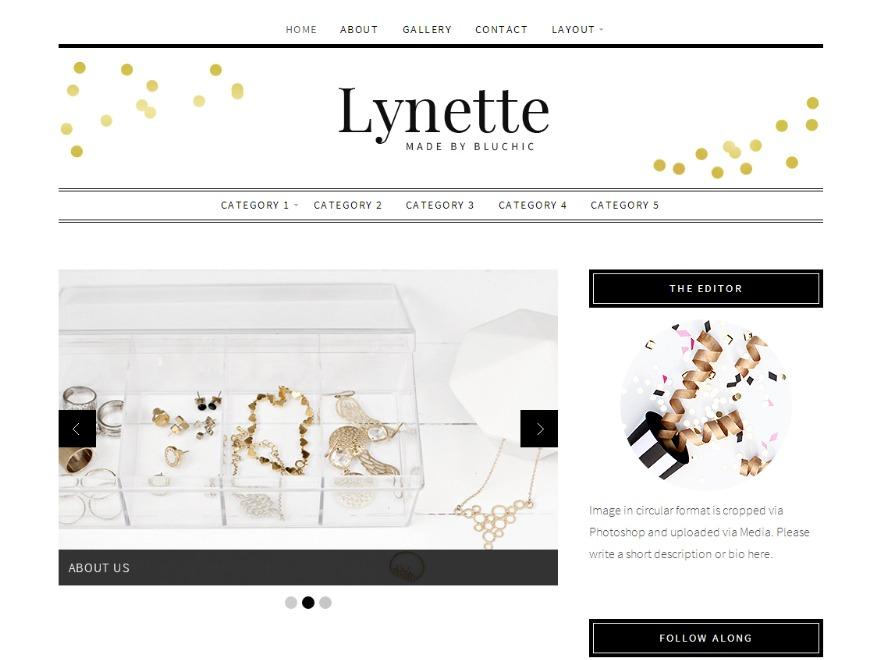 WordPress theme Lynette
