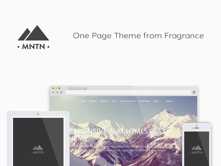 WordPress theme Mountain(MNTN)