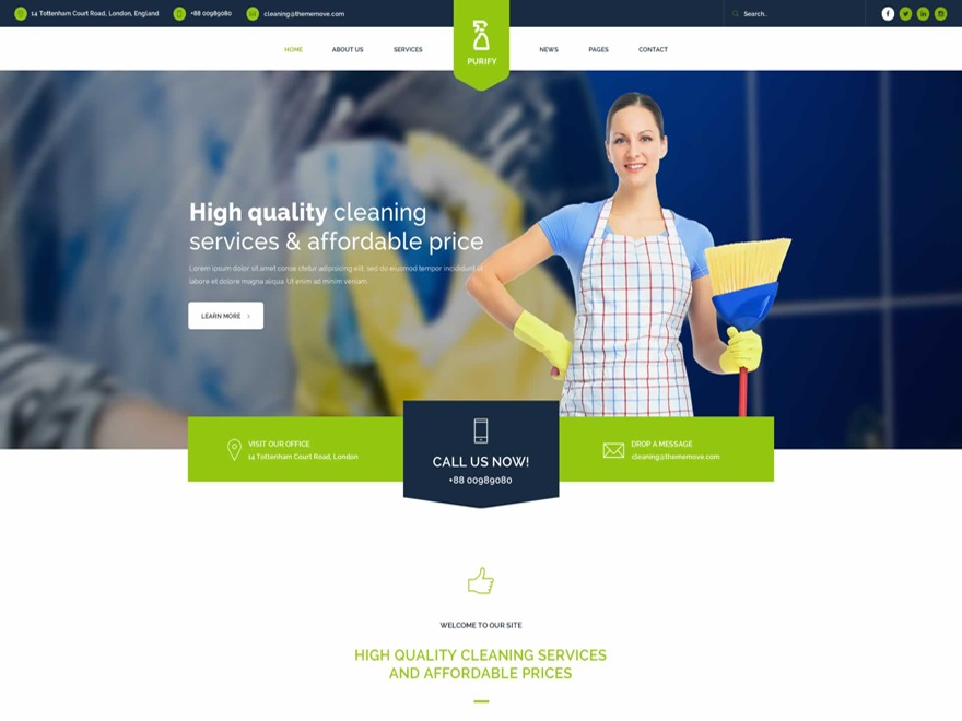 WordPress theme Purify