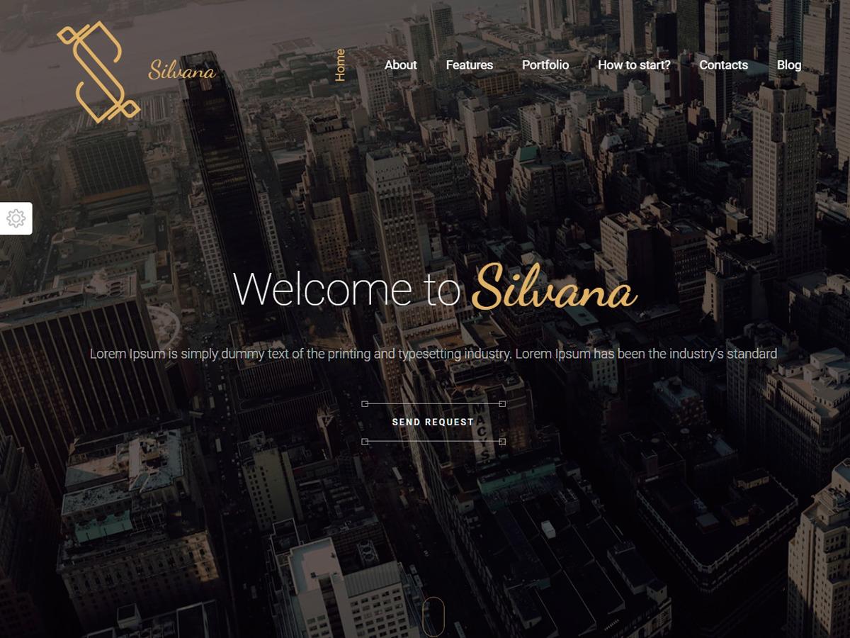 WordPress theme silvana