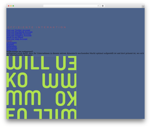 WordPress theme The Grid - webspread.de
