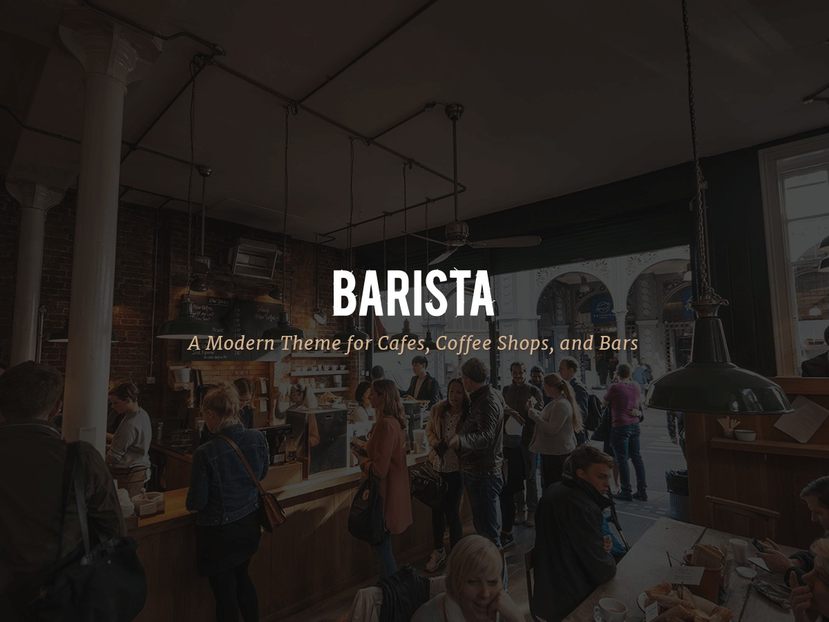 WordPress website template Barista Child