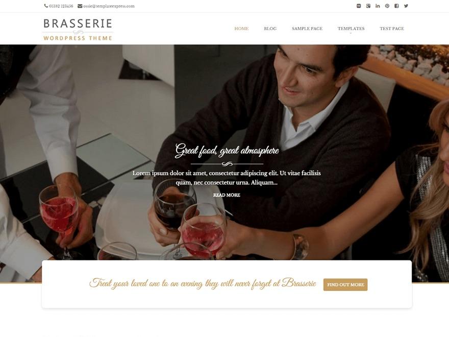 WordPress website template Brasserie Pro