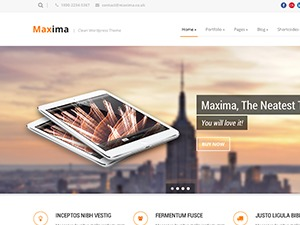 WordPress website template Maxima