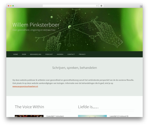 WordPress website template Nirvana - willempinksterboer.com