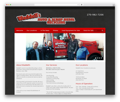 WordPress website template Refined Style - waddellsscrapmetalrecycling.com
