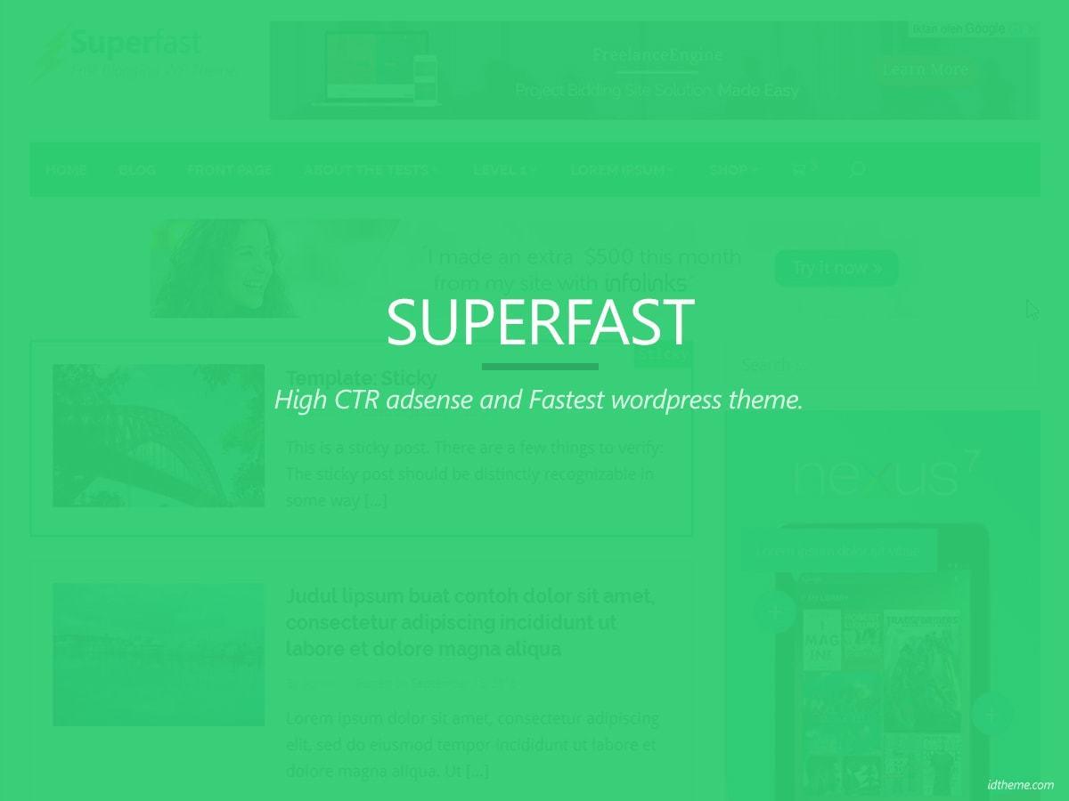 WordPress website template Superfast