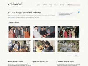 Workaholic premium WordPress theme