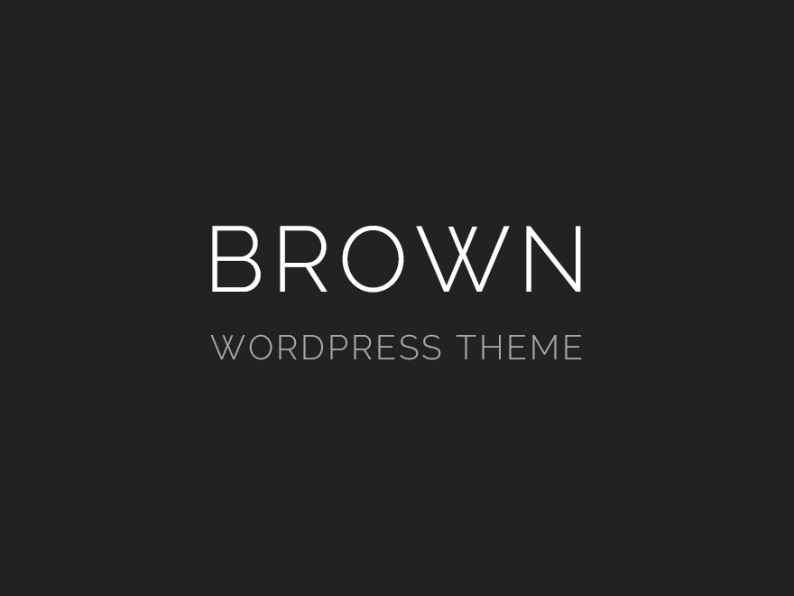 WP template Brown