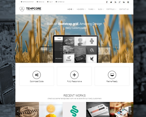 WP template Tempcore