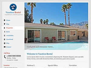 WP template VacationRental