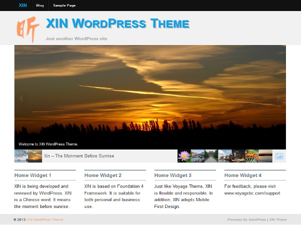 Xin WordPress theme