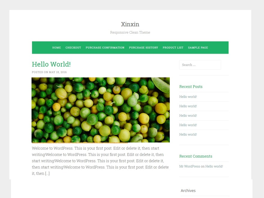 Xinxin free WordPress theme