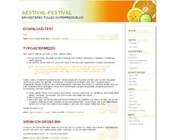 Aestival WordPress blog theme