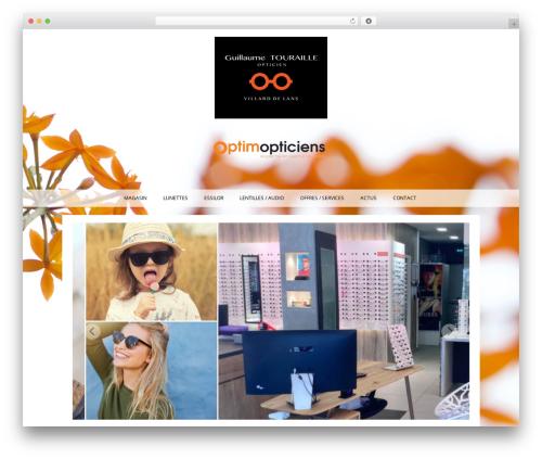 Auxane Opticiens WordPress template - touraille-opticien.com