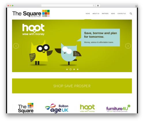 Best WordPress template Alpina - thesquarebolton.co.uk