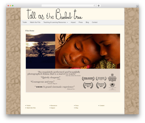 Canvas best WordPress theme - tallasthebaobabtree.com