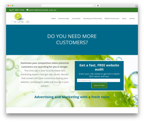 Divi theme WordPress - thelimelab.com.au