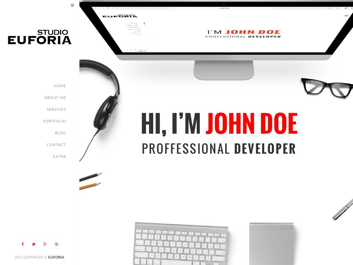 Euforia WordPress portfolio theme