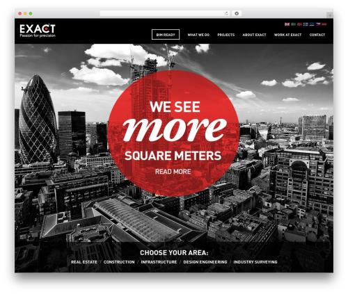 Exact WordPress theme - teamexact.com