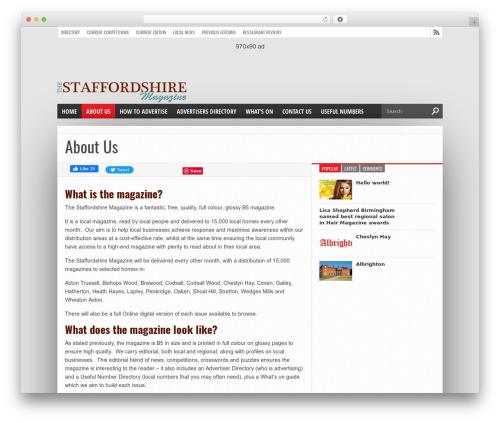 Hot Topix WordPress news template - thestaffordshiremagazine.co.uk