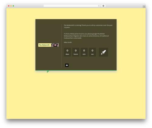 WordPress cuteslider plugin - themolesmith.co.uk