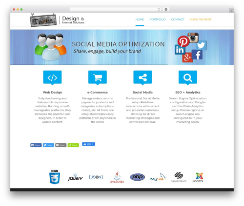 Lucy WordPress theme - troocadesign.com