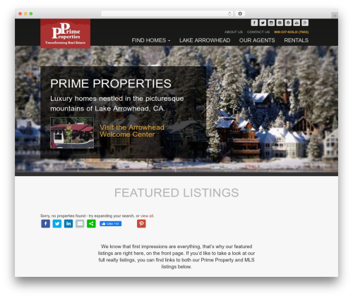 Match free website theme - therealestateplace.com