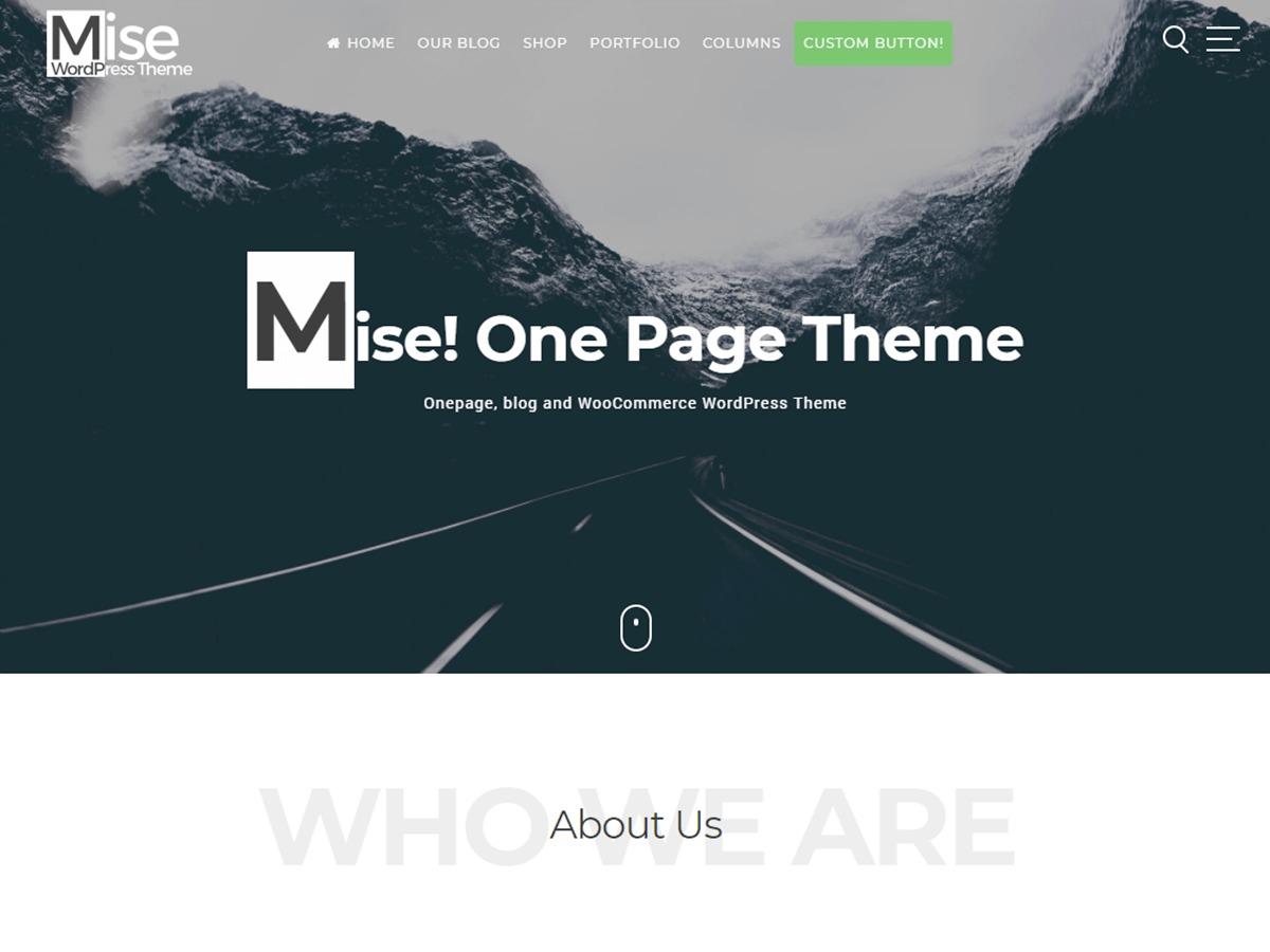 Mise best free WordPress theme